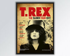 More details for t.rex marc bolan reimagined the slider 1972 uk tour poster a3 size.