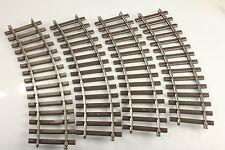 Märklin Spur 1 5922  4 gebogene Gleise   Schmutz/Kratzer/Mängel  #SI-10