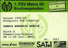 Ticket II. BL 98/99 1. FSV Mainz 05 - Tennis Borussia Berlin, 17.06.1999