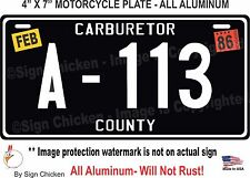 Cars / Pixar / Tow Mater's A-113, ALUMINUM,  Replica License Plate, MOTORCYCLE