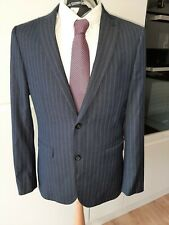 "NEXTSLIM FIT SUIT 2 PIECE SUIT  BLUE CHALKSTRIPE 40"" CEST TROUSERS W32"" X L33"""