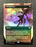 THOUGHTSEIZE Double Masters Borderless Showcase Magic the Gathering Foil Card