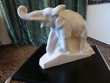 Elefant aus dem französischen Art Deko der 30er Jahre, elfenbeinfarben, Keramik