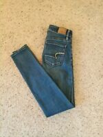 American Eagle Outfitters Womens Jeans Size 0 Hi Rise Jegging Super Stretch X