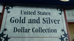 Commemorating 150 Years of U.S. Dollar Coins. United States ONE Gold & Silver***