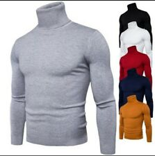 Maglione uomo collo alto dolcevita maglia maglione pullover collo alto uomo