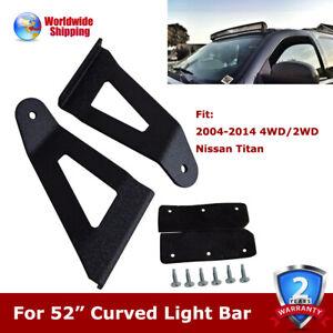 """52"""" Curved LED Light Bar Mount Upper Bracket For 2004-2014 4WD/2WD Nissan Titan"""