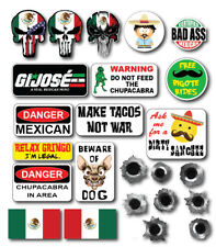 23pk 3M Funny Mexican Hard Hat  Helmet Sticker Combo Value Pack Toolbox Welder