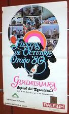 Fiesta de Octubre Otono Guadalajara Spanish Mexico Festival Poster 1980