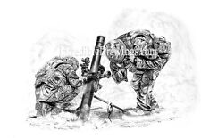 'Special Delivery'. Mortar Team, British Army, Herrick, military art print