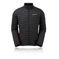 Montane Mens Icarus Micro Jacket Top Black Sports Outdoors Full Zip Warm Water