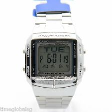 Casio DB-360-1A Silver Databank Stainless Steel Vintage Dual Time Watch