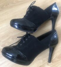 M&S Insolia Black Leather Wider Fit Shoes size 6