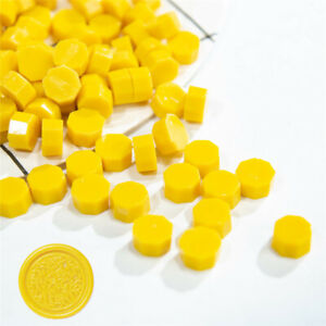 20Pcs yellow Retro Stamping Sealing Beads Wax Stamps Envelopes Party Invitation