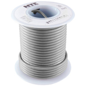 NTE Electronics WHS20-08-25 HOOK UP WIRE 300V SOLID 20 GAUGE GRAY 25'