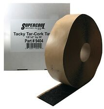 "A/C Black Insulating PresTite Tacky Tar Cork Tape Expansion Valve 1/8 x 2"" x 30'"