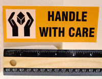 """Handle With Care Baggage Travel FRAGILE Luggage Label 2x5"""" Decal STICKER #4474"""