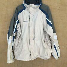 Columbia Interchange Waterproof Jacket Coat Beige White Blue Gray XL Omnishield