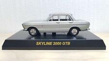 1/64 Kyosho NISSAN PRINCE SKYLINE GTB SILVER diecast car model