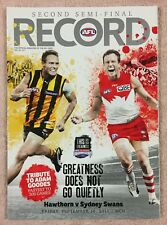 HAWTHORN V SYDNEY AFL 2011 2ND SEMI FINAL RECORD HAWKS V SWANS MCG