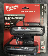 Milwaukee M18 Cp 3.0 Ah High Output (2 Pack) Batteries 48-11-1837 *Brand New*