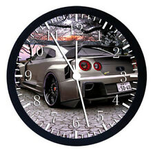 Nissan GTR Black Frame Wall Clock Nice For Decor or Gifts W39
