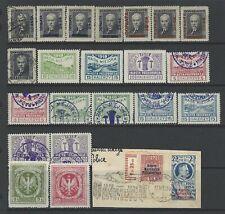 Polonia Cenicienta e ingresos Sellos 1920s un grupo de menta y sellos usados