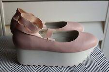 Unif 10 M Bella Ballerina Ballet Platforms Pink Women's Shoes