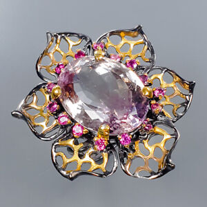 Ametrine Ring Silver 925 Sterling Fine Art Jewelry Size 8.5 /R134835