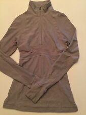 LULULEMON Run: FULL TILT Half Zip PULLOVER Size 2 Lilac Purple Heathered Coal