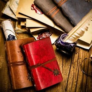 """""""Traveler's Handbook Pocket"""" 1pc Faux Leather Vintage Diary Journal Notebook"""