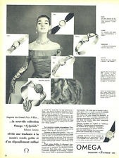 Publicité Advertising 107  1955  la montre Omega Sylphide
