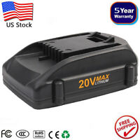 20 Volt WA3520 WA3525 For WORX 20V Max Lithium Ion Battery WA3512 WA3732 WA3847
