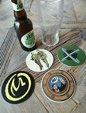 Lot de 4 Sous Bock Blake et Mortimer exlibris biere Vallée des ImmortelsRARE !!