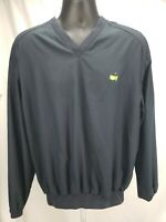 MASTERS COLLECTION MENS BLACK PULLOVER POLYESTER WINDBREAKER GOLF JACKET M