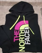 New! The NORTH FACE- Black Jersey Knit, Women's Logo Print Hoodie Pullover- (S)