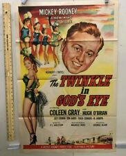 VINTAGE MOVIE POSTER 1955 The Twinkle In God's Eye One Sheet 27X41 Original