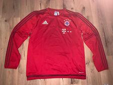 FC Bayern München Saison 2015/2106 Matchworn Trainingspullover mit Sponsoren