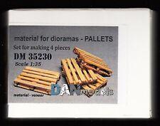DM35230/ DANmodels - Accessoires de diorama - Palettes en bois - 4 Pièces - 1/35