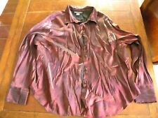 Nice Women's Working Classics Shimmering Blouse Size 28 Purple/Wine color Shirt
