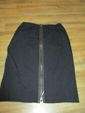 "Bisou Bisou Straight Black Full Zip Pencil Skirt Booty Enhance Size 2 26"" Waist"