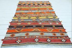 """Doormat, Turkish Sivas Small Kilim Bathmat, Small Carpet Teppiche Tapis 46""""X69"""""""