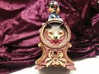 CAST IRON CAT & MOUSE MECHANICAL COIN BANK VINTAGE & COLLECTIBLE works!