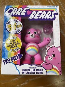 "Care Bears Cheer Bear 5"" Interactive Figure Unlock the Magic New 🔥 🔥"