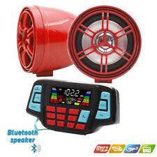 12V Motorcycle Waterproof Audio FM Radio Stereo Speaker Bluetooth