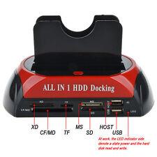 HDD Docking Station Dual USB 2.0 2.5/ 3.5 Inch IDE SATA External HDD Box FE