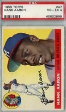 1955 Topps Baseball #47 Hank Aaron PSA 4 (VG-EX) *2899