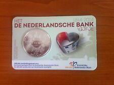 (M-19) Het Nederlandse Bank vijfje 2014 UNC -coincard