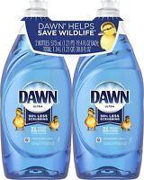 2 Pack - DAWN 19.4 fl oz Dishwashing Original Scent dish Soap New