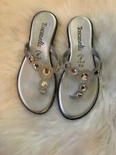 Toscanella flip flops sandals metallic Size8.5